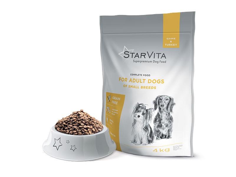 Mažų ir vidutinių veislių suaugusiems šunims Elniena & Kalakutiena - 4 kg