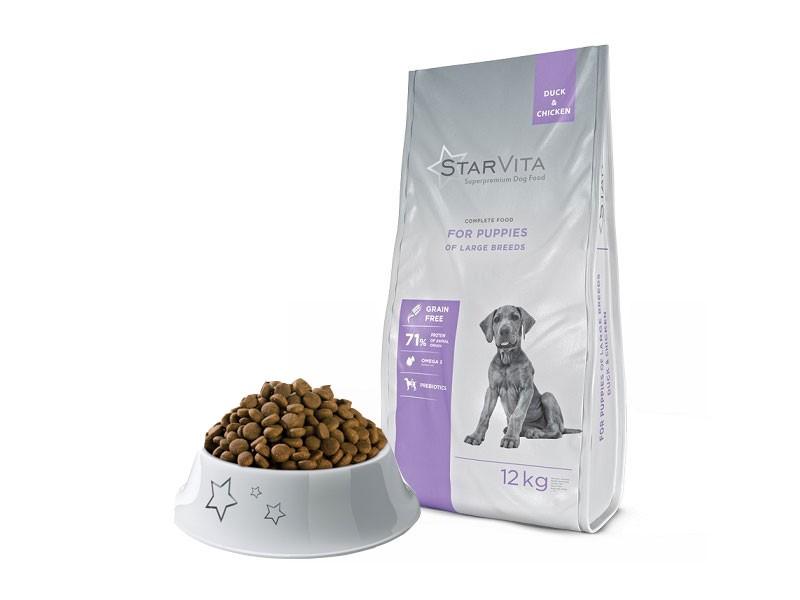 Didelių veislių jauniems šuniukams Antiena & Vištiena  - 12 kg