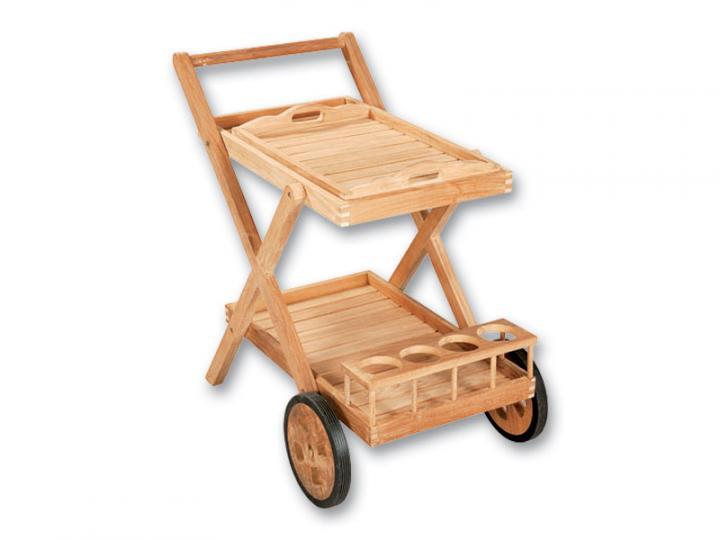 GENT serviravimo vežimėlis su padėklu