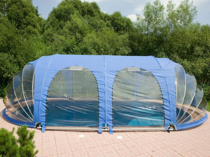 Mobilus baseinų uždengimas ovalus 4,9 x 10,8 x 2,6 m