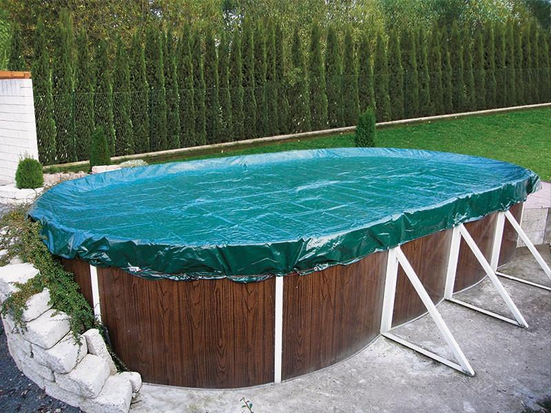 Baseino uždengimas brezentas ovalus 9,1 x 4,6 m