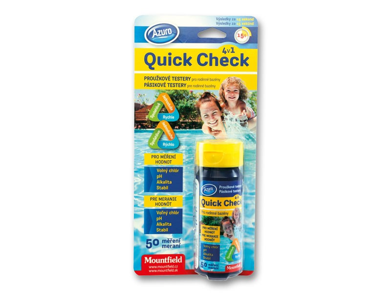 Quick Check 4in1 testeris Ph,Cl 50vnt.