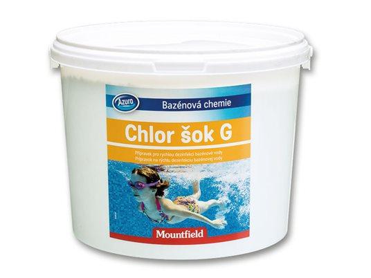 Chlor šoko granulės 3 kg.