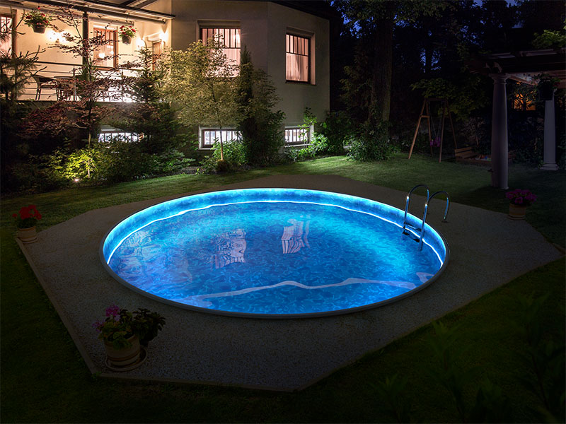 LED apšvietimas 4,6 m baseinams